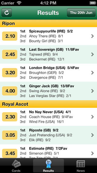 Irishracing Com App For Iphone And Android Mobile Horse