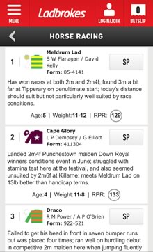 how to put exacta on ladbrokes using mobile