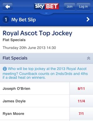 Sky Bet Horse Race Betting App Review - Mobile Horse Racing