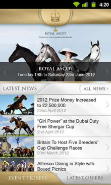 Ascot Racecourse App for iPhone and Android