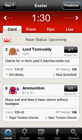 Racing Post iPhone, iPad, Android
