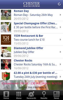 Chester Racecourse iOS and Android
