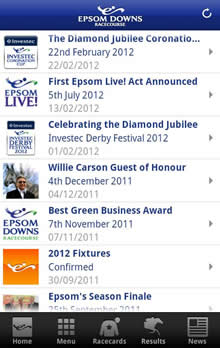 Epsom Downs Racetrack Apps