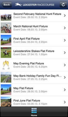 Leicester Racecourse App iPhone